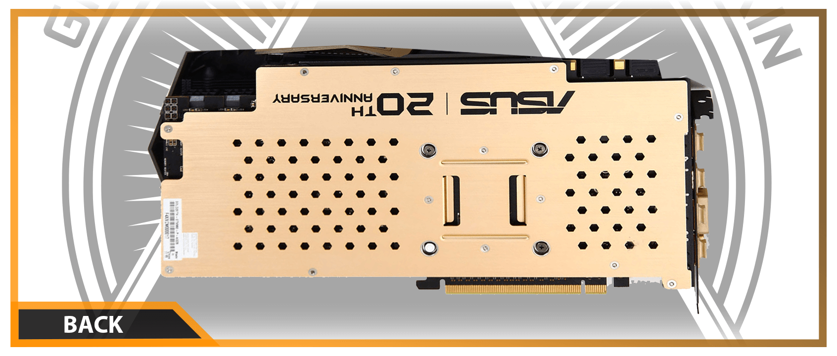 GPUSKIN NVIDIA ASUS ROG Matrix GTX 980Ti Gold Edition Back